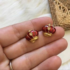 Vintage Avon Crown Earring Studs